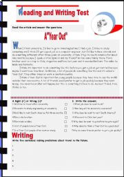English Worksheet: A