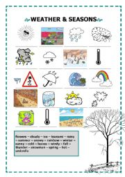 English worksheet: Weather and seasons