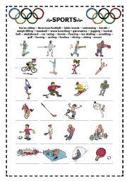 English worksheet: sports