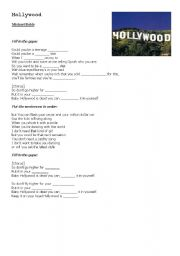 English Worksheet: Hollywood - Michael Bublé