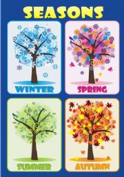 English Worksheet: SEASONS - Poster