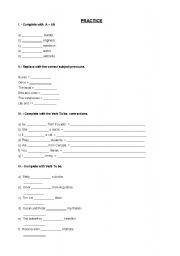 English Worksheets: PRACTICE BASIC 1