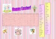 English Worksheet: Easter Wordsearch 2011