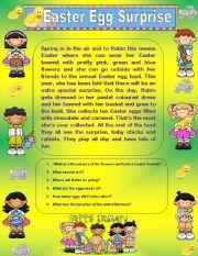 English Worksheet: Comprehension - Easter Egg Surprise