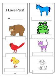 English Worksheets: I love pets!