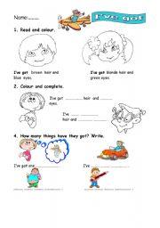 English Worksheets: I�ve got