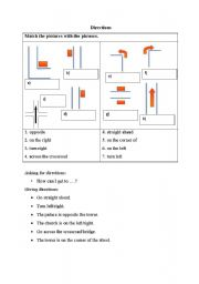 english worksheets directions phrases asking for and giving directions. Black Bedroom Furniture Sets. Home Design Ideas