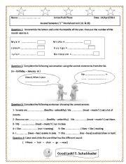 English worksheet: A Quiz