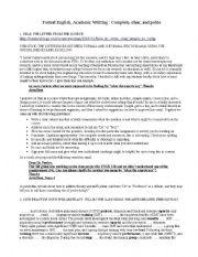 English Worksheets: Academic English