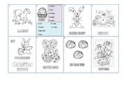 English Worksheet: Easter Colouring Book