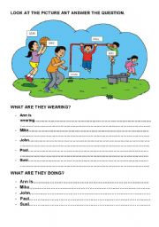 English Worksheets: look at the pictute and answer the questions