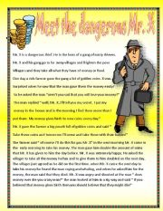 English Worksheets: MEET THE DANGEROUS MR. X
