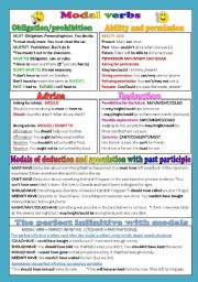 English Worksheet: MODAL VERBS-Upper intermediate level