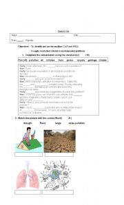 Test: Environmental problems