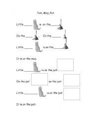 English Worksheets: little tom