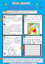 English Worksheets: Past Simple - Winnie the Pooh video lesson