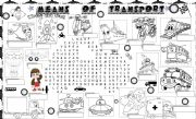 English Worksheet: means of transport