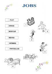 English worksheet: jobs