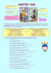 English Worksheets: QUESTION TAGS - RULES & EXERCISES