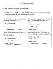 English Worksheets: Reading-comprehension sklls