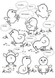 English Worksheets: Easter birds