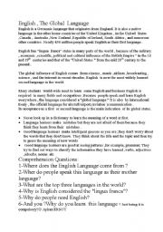 English Worksheets: Why do we learn English