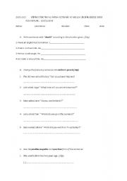 quiz on reported speech,should,used to,could