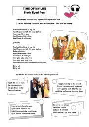 English Worksheets: Time of my Life - Black Eyed Peas