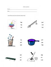 English Worksheets: short o preactice