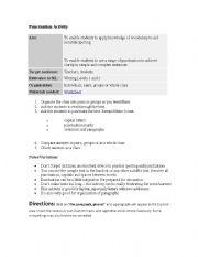 English worksheet: puntuaction activity