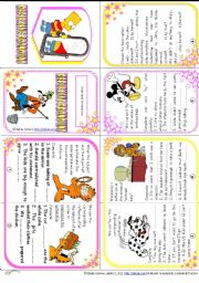 English Worksheet: Minibook: Reflexive Pronouns � grammar guide and exercises � 4 different uses of reflexives � editable