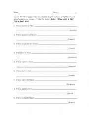 English Worksheets: Showing possession