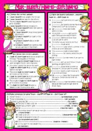 English Worksheet: MUST - MUSTN´T / HAVE TO - DON´T HAVE TO