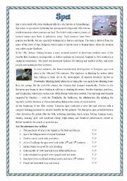 English Worksheets: Spa bathes