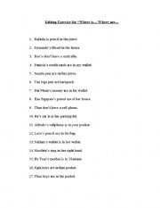 English Worksheets: Editing Exercise for