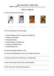 English teaching worksheets: Diary of a Wimpy Kid