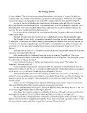 English Worksheets: weeping woman