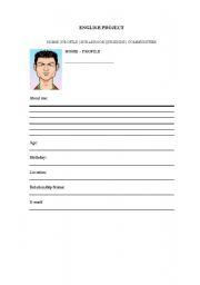 English Worksheets: Profile