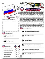 English Worksheet: RC Series_Level 01_Country Edition 28 Russia (Fully Editable + Key)