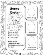 English worksheet: Easter Poem