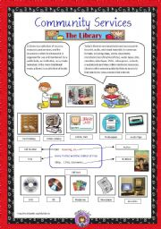 English Worksheet: Community Services 2  - The Library