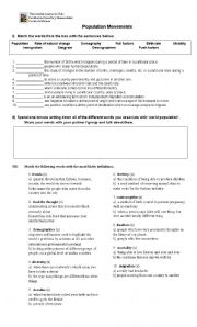 English Worksheets: Population