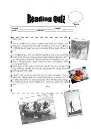 Reading Quiz - Lunahuaná _ Peru