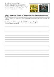 English worksheet: While_listening and transference activities on Sweet Home Alabama (song)