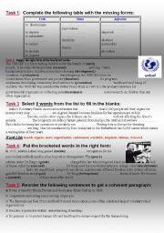 English Worksheet: philanthropy module2 3rd form tunisian sts