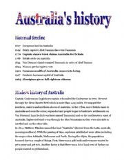 Australia´s history, the Aborigines and the outback