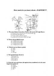 English Worksheet: easter quiz