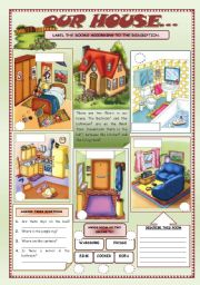 English Worksheets: OUR HOUSE (3)