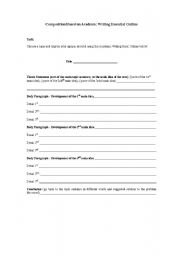 English Worksheets: Composition Based on Academic Writing Essential Outline