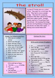 English Worksheets: The stroll